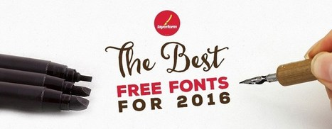 The Best Free Fonts for 2016 - Layerform Design Magazine | xposing world of Photography & Design | Scoop.it