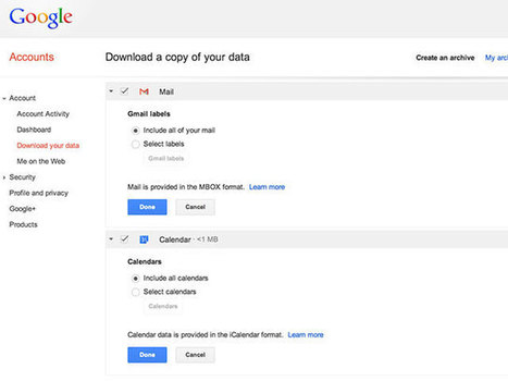 Google va enfin nous permettre de récupérer nos données Gmail ! | Fredzone | Communication digitale | Scoop.it