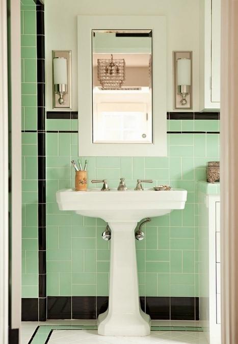 La salle de bain verte - Idées Déco | BricoBistro | Salle de bains | Scoop.it