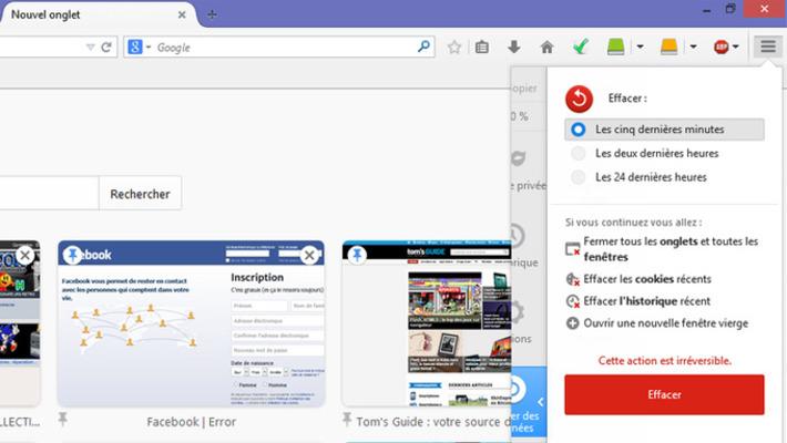 Firefox 33.1 : un bouton pour effacer sa trace illico-presto   TIC et TICE mais... en français   Scoop.it