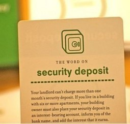 Tenants Rights about Security Deposit Return is Up | Dawsons London Property Review | Scoop.it