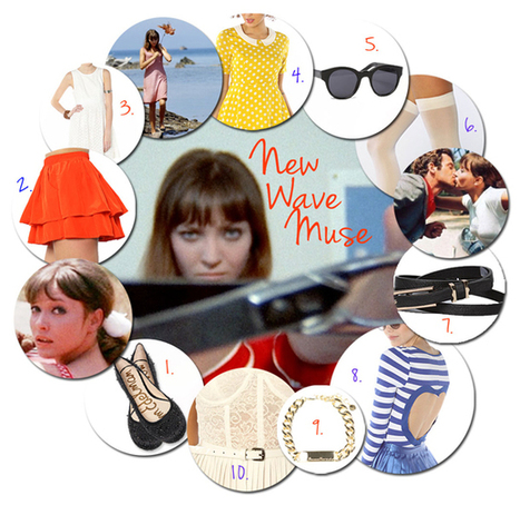 New Wave Muse: 10 Fashion Picks Inspired by the Stars of French New Wave Cinema   Miss KL Blog   Cinema Of Quality From Yesterday & Today   Scoop.it