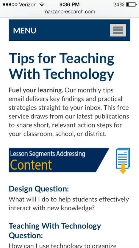 Teaching with Technology Tips: Marzano   Improving the Marzano Way   Scoop.it