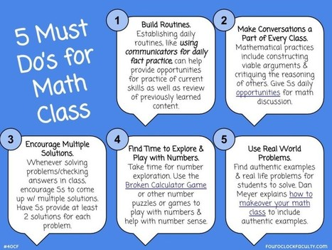 5 Must Do's for Math Class | Supporting Differentiated Instruction | Scoop.it