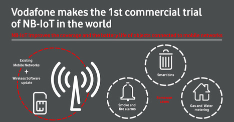 Vodafone completes the world's first trial of standardised NB-IoT on a live commercial network | The French (wireless) Connection | Scoop.it