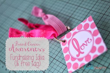 She's {kinda} Crafty: Breast Cancer Awareness Month Fundraising Idea   La vie en rose   Scoop.it
