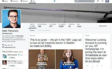 Twitter teste un nouveau design de profil à la Facebook | Techno | Scoop.it