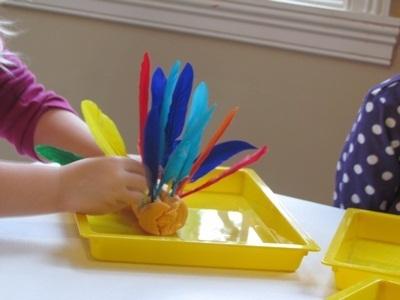 Turkey in the playdough at preschool | Teach Preschool | Scoop.it