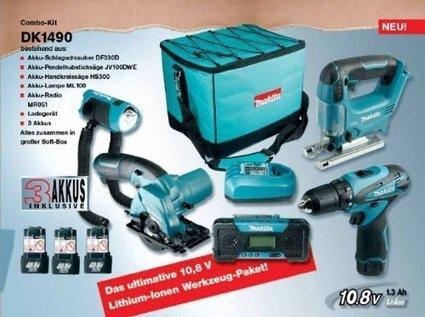 ***   Makita DK1490 Combo-Kit 10,8 V (DF330D+HS300+JV100+ML101+MR051), 3 Akkus und Ladegerät   Krabbeldecken Günstig   Scoop.it