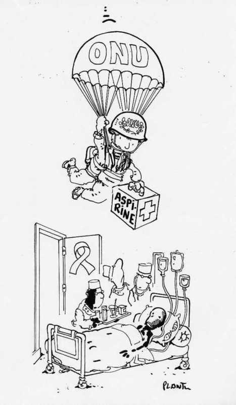 Caricature de Plantu qui caractérise l'assistanat en Afrique   Actualités Afrique   Afrique, une terre forte et en devenir... mais secouée encore par ses vieux démons   Scoop.it