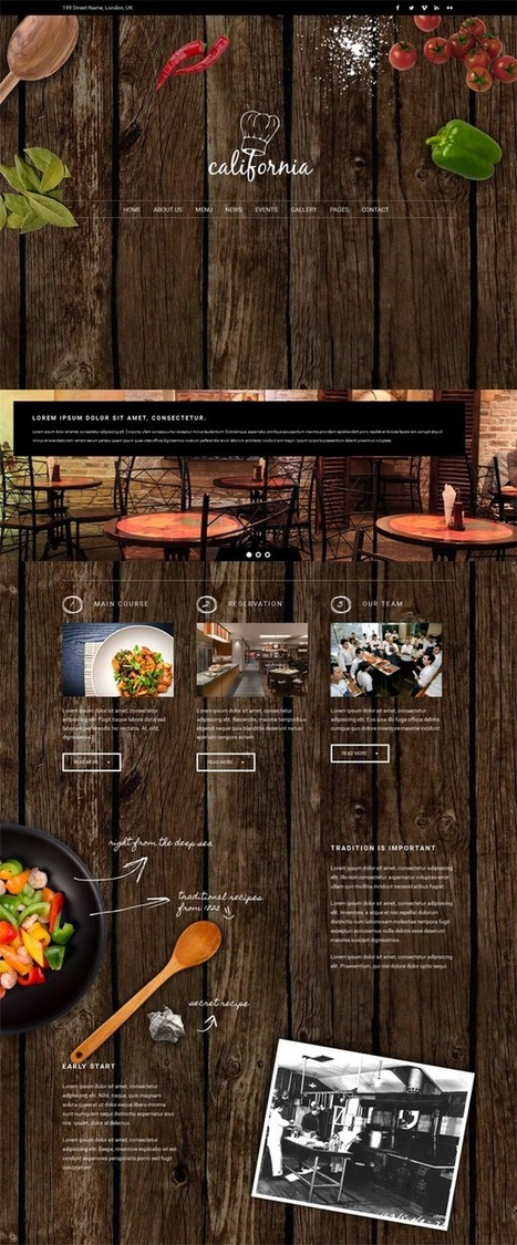 20+ Awesome Hotels and Restaurants HTML Templates | Webtechelp | Scoop.it