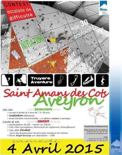4 Avril : Le club d'Escalade Truyère Aventure organise une initiation et un contest Escalade | Carladez - Aveyron | Scoop.it