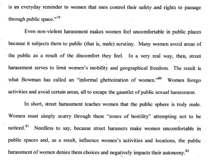 NO SAFE PLACE: The Legal Regulation of Street Harassment | Dare To Be A Feminist | Scoop.it