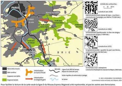 Carte : la PÉRIURBANISATION au sud-est de Paris | URBANmedias | Scoop.it