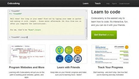 Spelend leren programmeren met Codecademy | innovation in learning | Scoop.it
