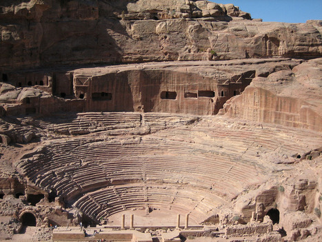 Theater of the ancient town Petra in Jordan | Ancient Cities | Scoop.it