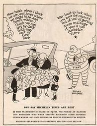 1927 Michelin Man Bibendum Gluyas Williams Art Antique Shop Garage Décor Ad | Food | Scoop.it