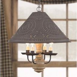 4-Arm Homespun Wooden Shade Light by Irvin's Country Tinware | Country Home Design Ideas | Scoop.it