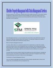 Effective Property Management with Strata Management Services | Strata Companies | Scoop.it