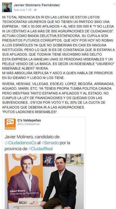 Afiliados de Ciudadanos llevan las cuentas del partido a la Fiscalía Anticorrupción | EL VIL METAL. | Scoop.it