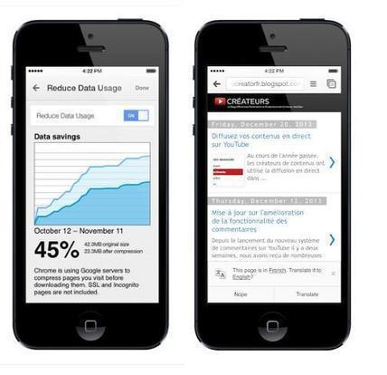 Chrome para iOS nos trae un nuevo modo para ahorrar ancho de banda y Google Translate | iPad classroom | Scoop.it