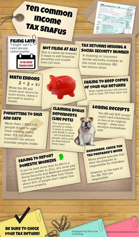 Top 10 Income Tax headache you want to Avoid | All Infographics | All Infographics | Scoop.it