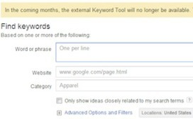 With Death of AdWords Keyword Tool Near, Google Pushes Users to Keyword Planner - Search Engine Watch | Marketing and Creative Services | Scoop.it