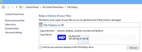 How to Automatically Backup your Personal Files in Windows 8 | Time to Learn | Scoop.it