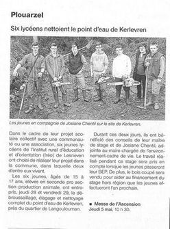 Des stagiaires au point d'eau de... - Ireo de Lesneven   Facebook   Les MFR dans la presse et sur le Web   Scoop.it