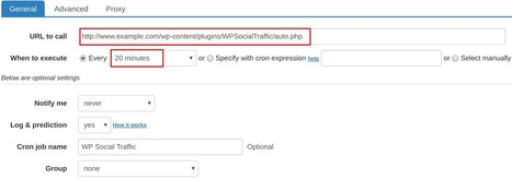 How to set up cron job for WP Social Traffic | How to set cron jobs | Scoop.it