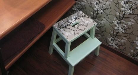 peindre tabouret tapisser | Prima | Fait maison | Scoop.it