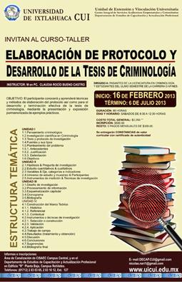 Elaboración de protocolo y Desarrollo de la Tesis de Criminología ...   Criminología 2.0   Scoop.it