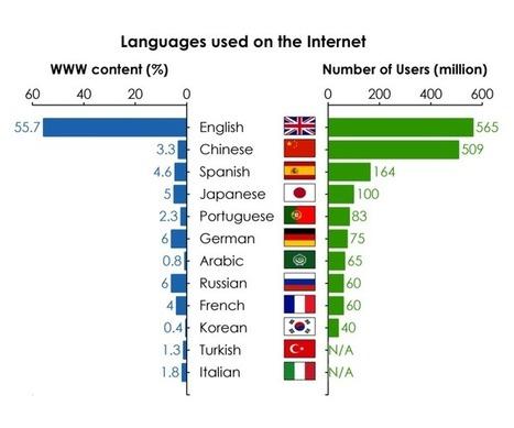 Solo el 5% de los idiomas del mundo están representados en Internet | Educacion, ecologia y TIC | Scoop.it