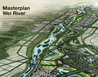 Masterplan Wei River, Xi'an and Xianyang, China, 2011 | Landscape Urbanism AA | Scoop.it