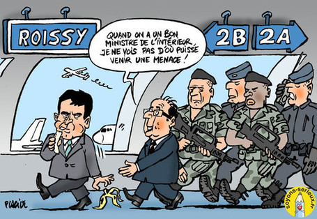 Hollande et Valls en visite à Roissy-CDG | Baie d'humour | Scoop.it