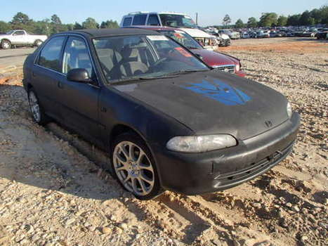 Salvage 1994 black Honda Civic Lx with VIN JHMEG8653RS013943 on auction   cars   Scoop.it