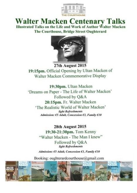 Walter Macken Centenary Talks | The Irish Literary Times | Scoop.it