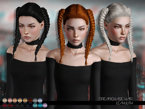 DreamChase Hair for TS 3 by Leahlillith by The Sims Resource | Sims 3 Downloads | Scoop.it