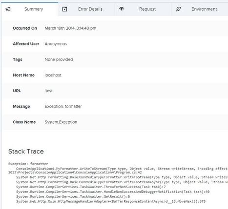 ASP.NET Web API exception logging with Raygun.io | .Net & Web Development | Scoop.it