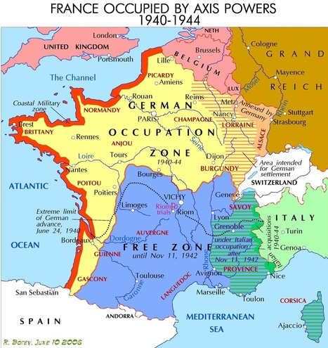 Map of France During WWII | Sarah's Key Holocaust | Scoop.it