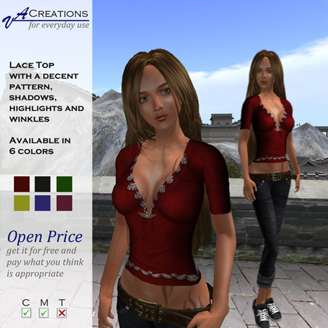 Lace Top by VA Creations | Teleport Hub | Second Life Freebies | Scoop.it