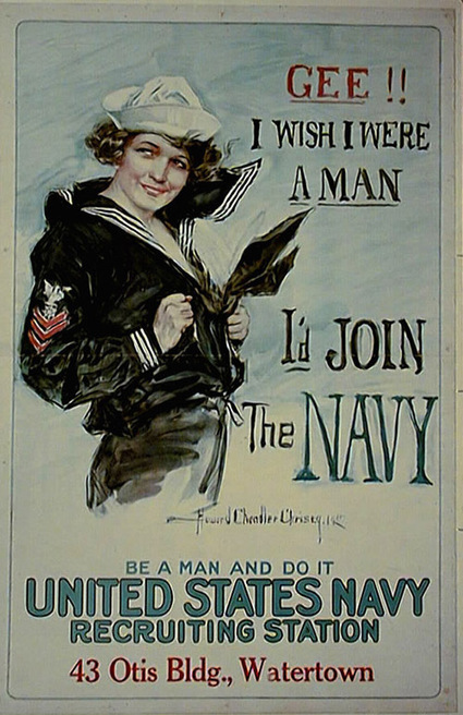 Howard Christy - Christy Girls - Women and War -WWI | A Cultural History of Advertising | Scoop.it