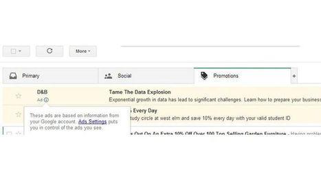 Dans le nouveau Gmail, la pub prend l'apparence d'emails - Le Figaro   Communication - Marketing - Web   Scoop.it