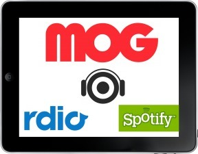 What's The Best iPad Streaming Music App? MOG's New iPad App vs Rdio vs Spotify | Music business | Scoop.it