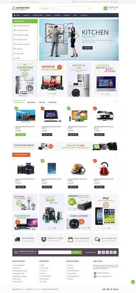 Ves Super Store Responsive Magento Theme - ServerThemes.Net | Best Premium Magento Themes | Scoop.it