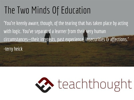 The Two Minds Of An Educator | Pedalogica: educación y TIC | Scoop.it