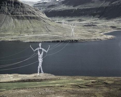 En Islande, des pylônes électriques sont revisités en de superbe sculptures de 45m de haut | LittArt | Scoop.it