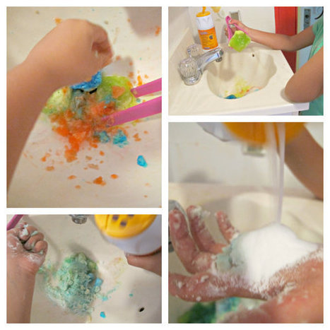 The Golden Gleam: {Messy Play in the Bath & Sink} Science Experiment | Learn through Play - pre-K | Scoop.it