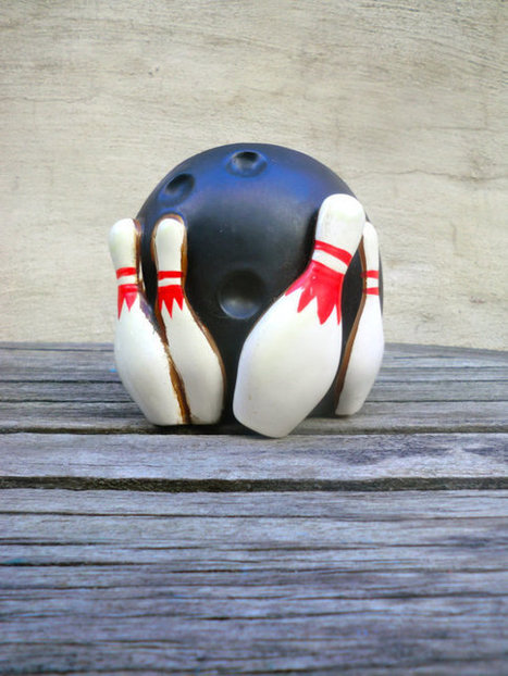 Bowling Themed Planter   Mid Century   Scoop.it