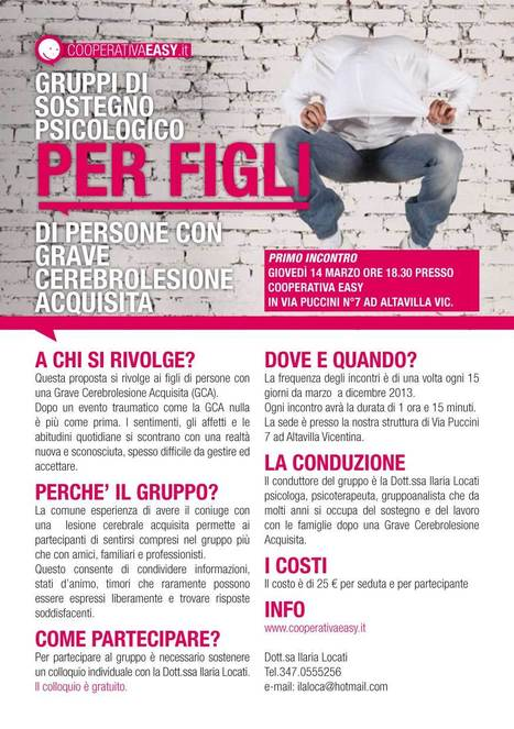 GRUPPI DI SOSTEGNO PSICOLOGICO – cooperativa easy | EasyNews | Scoop.it
